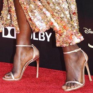 Stuart Weitzman nudist metallic rose gold sandals
